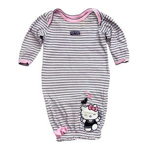 Hello Kitty Striped Sleep Gown